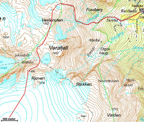 kart folgefonna BreogFjellsport.no   Bre   Pinsetur på Folgefonna kart folgefonna