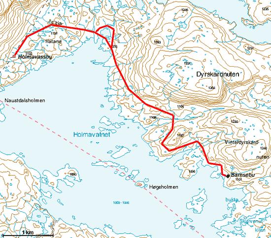 kart haukeliseter BreogFjellsport.no   Ryfylkeheiane   Bamsebu kart haukeliseter