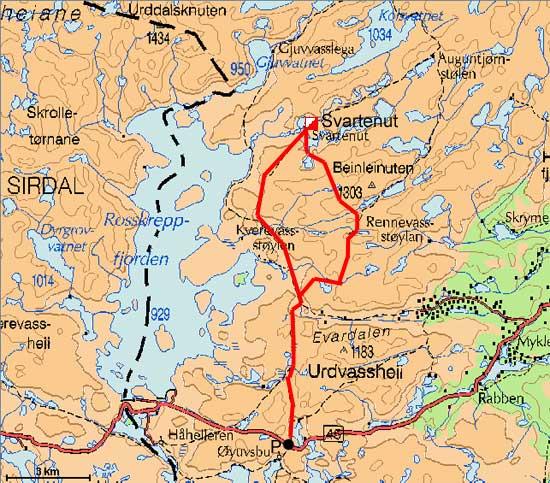brokke suleskard kart BreogFjellsport.no   Setesdalsheiane   Svartenuthytta i  brokke suleskard kart